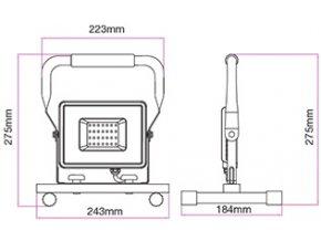 Vt-4230 Led Reflektor-Stativ 30W, 2550 Lm, Černý, Ip65  + Zdarma záruka okamžité výměny!