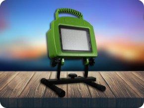 20W LED přenosný reflektor, dobíjecí (1600Lm) (Barva světla Studená bílá)