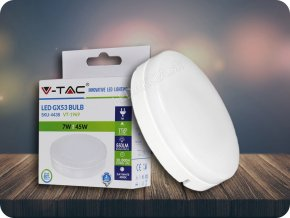 Gx53 Led Žárovka 7W (550Lm) (Barva světla Studená bílá)