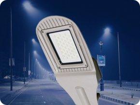 Led Veřejné Osvětlení 50W (4000Lm), Šedé (Barva světla Studená bílá)