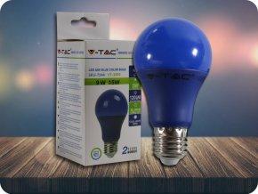 colored bulb blue
