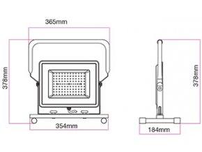 Vt-42100 Led Reflektor Se Stativem 100W, 8500 Lm, Ip65 (Barva světla Studená bílá)