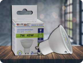 Gu10 Led Žárovka 7W (Barva světla Studená bílá)