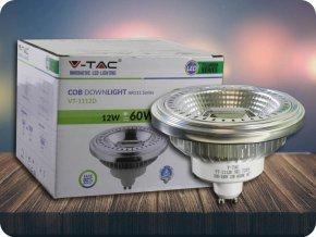 GU10 LED ŽÁROVKA, AR111, 12W, (900LM), STMÍVATELNÁ (Barva světla Studená bílá 6400K)