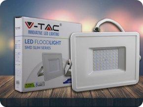 LED REFLEKTOR 50W(4000LM), SAMSUNG CHIP, BÍLÝ, ZÁRUKA 5 LET! (Barva světla Studená bílá)