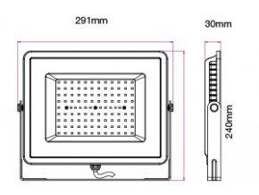 LED REFLEKTOR 100W, SAMSUNG CHIP, 8000LM, ČERNÝ, ZÁRUKA 5 LET! (Barva světla Studená bílá)