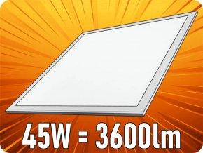 Led Panel, 45W, Čtverec 60X60 Cm (3600Lm) (Barva světla Teplá bílá)