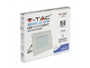 LED REFLEKTOR 100W, SAMSUNG CHIP, 8000LM, BÍLÝ, ZÁRUKA - 5 LET! (Barva světla Studená bílá)
