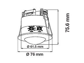 4209 1 stropni zapustnou infracerveny pohybovy senzor s funkci on off