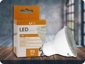GU10 LED ŽÁROVKA 1W, 40° (Barva světla Studená bílá)