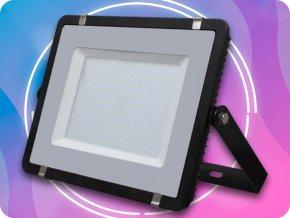 LED REFLEKTOR 200W, SAMSUNG CHIP, 16000LM, ČERNÝ, ZÁRUKA 5 LET! (Barva světla Studená bílá)