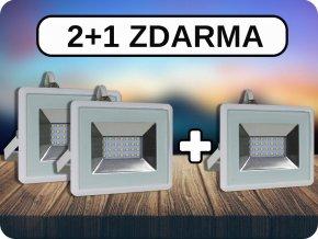 2+1 LED REFLEKTORY 20W, I-SERIES, 1700LM, BÍLÉ (Barva světla Studená bílá)