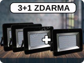 3+1 LED REFLEKTORY 50W, I-SERIES,4250 LM ČERNÉ (Barva světla Studená bílá)