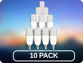 10 PACK - E14 LED ŽÁROVKY 9W (Barva světla Studená bílá)