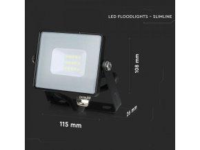 LED REFLEKTOR 10W, SAMSUNG CHIP, 800lm, ČERNÝ, ZÁRUKA - 5 LET! (Barva světla Studená bílá)