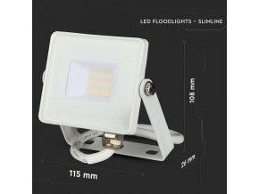 LED REFLEKTOR 10W, SAMSUNG CHIP, 800lm, BÍLÝ, ZÁRUKA - 5 LET!