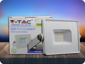 LED REFLEKTOR 10W, SAMSUNG CHIP, 800lm, BÍLÝ, ZÁRUKA - 5 LET! (Barva světla Studená bílá)