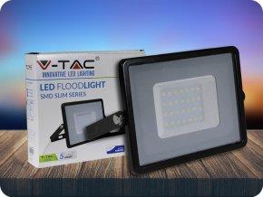 LED REFLEKTOR 30W, SAMSUNG CHIP, 2400LM, ČERNÝ, ZÁRUKA - 5 LET! (Barva světla Studená bílá)