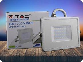 LED REFLEKTOR 30W, SAMSUNG CHIP, 2400LM, BÍLÝ, ZÁRUKA - 5 LET! (Barva světla Studená bílá)