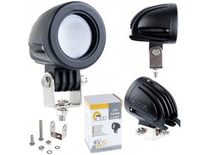 Led CREE Pracovní Světlo, 10W, Kulaté 800Lm, 12-24V, Ip67  + Zdarma záruka okamžité výměny!