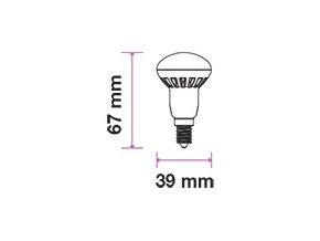 E14 LED ŽÁROVKA 3W, R39,250LM - SAMSUNG CHIP - ZÁRUKA 5 LET! (Barva světla Studená bílá)