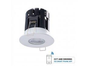Zápustné svítidlo (850LM), BLUETOOTH, IP65, 10W, stmívatelné (Barva těla Bílá)