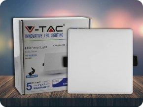 LED bezrámový PANEL, 8W, ČTVERCOVÝ (800lm), SAMSUNG CHIP, ZÁRUKA 5 LET! (Barva světla Studená bílá)