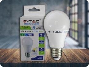 E27 LED ŽÁROVKA 8.5W, A60 - SAMSUNG CHIP - ZÁRUKA 5 LET! (Barva světla Studená bílá)