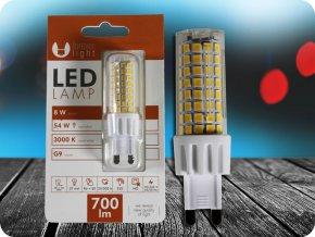 G9 LED ŽÁROVKA 8W (700lm) (Barva světla Studená bílá)