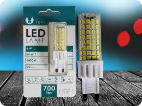 G9 LED ŽÁROVKA 8W (700lm) (Barva světla Neutrální bílá)