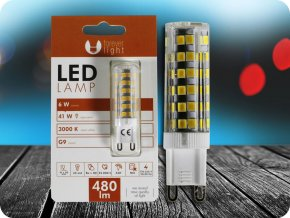 G9 LED ŽÁROVKA 6W (480lm) (Barva světla Studená bílá)