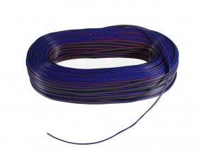 5190 kabel rgb 4 zilovy 4x0 35mm 1m