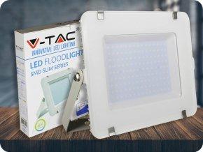 LED REFLEKTOR 150W, SAMSUNG CHIP, 12000LM, BÍLÝ, ZÁRUKA - 5 LET! (Barva světla Studená bílá     6400K)