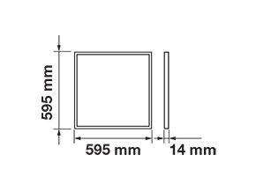 LED PANEL 45W, 60X60 CM, (3600 LM)-SAMSUNG CHIP, ZÁRUKA 5 LET (Barva světla Studená bílá)