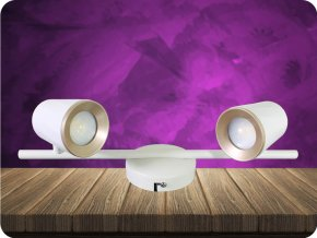 2 x 6W, LED NÁSTĚNNÉ SVÍTIDLO, BÍLÉ (Barva světla Neutrální bílá)