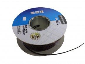 Kabel, dvojlinka, 2x0,5mm,měď  + Zdarma záruka okamžitej výmeny !