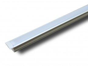 Hliníkový Profil 2 M Pro Led Pásy, 23, x 15,5mm  + Zdarma záruka okamžité výměny!
