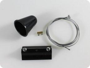 Zavesný systém pro kolejnicové svítidla,1M, čierny/biely (Barva těla Bílá)