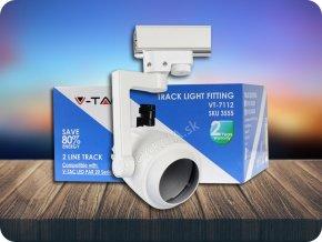 Kolejnicový LED SVÍTIDLO, 2-linka, bílé  + Bezpłatna natychmiastowa gwarancja wymiany!