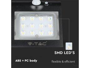 LED Solární Svítidlo S POHYBOVÝM SENZOREM 1,5W (220 lm),  Ip65