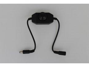Stmívač pro LED pásy mechanický DM1-B 12-24V černý  + Zdarma záruka okamžité výměny!