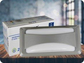 LED nástěnné svítidlo s jemným světlem 12W (500 lm), IP65 (Barva světla Studená bílá)