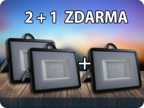 LED REFLEKTOR 50W, SAMSUNG CHIP, 4000LM, ČERNÝ, ZÁRUKA - 5 LET! 2+1 ZDARMA! (Barva světla Studená bílá)