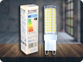 G9 LED ŽÁROVKA 5W (550LM), IP44 (Barva světla Studená bílá      6400K)