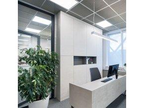 LED PŘISAZENÝ PANEL s napájecím zdrojem 70W (5950lm), ČTVERCOVÝ, 595x595 mm