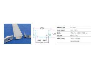 Hliníkový Profil 1 M Pro Led Pásy Šířky 8 A 10 Mm  + Zdarma záruka okamžité výměny!
