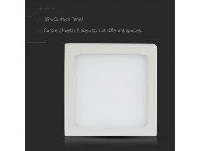 Led Nadomítkový Panel 12W S Napájecím zdrojem (Barva světla Studená bílá)