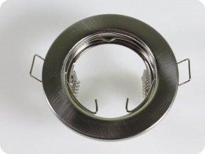 Rámečky / 2Ks V Balení / Na Bodovou Žárovku Gu10 / Gu5.3, Kruhový, Fixní (Farba rámiku Chrom)