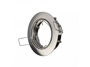 Rámeček Na Bodovou Žárovku Gu10, Kulatý, Rotační (Farba rámiku Chrom)