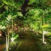 Zahradní svítidlo 12W (720 lm), IP65, černé se zeleným světlem
